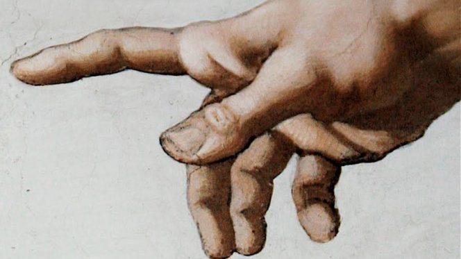 mano Dio Sistina Michelangelo